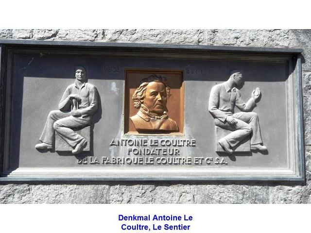 Denkmal Antoine Le Coultre, Le Sentier