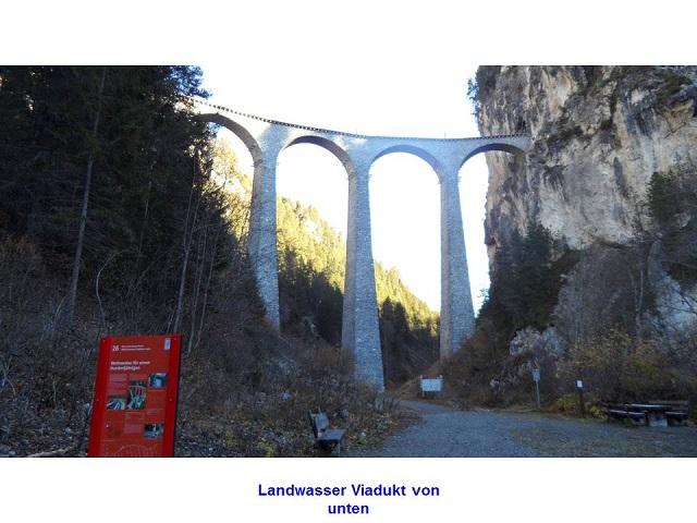Landwasser Viadukt von unten