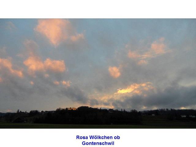 Rosa Wölkchen ob Gontenschwil