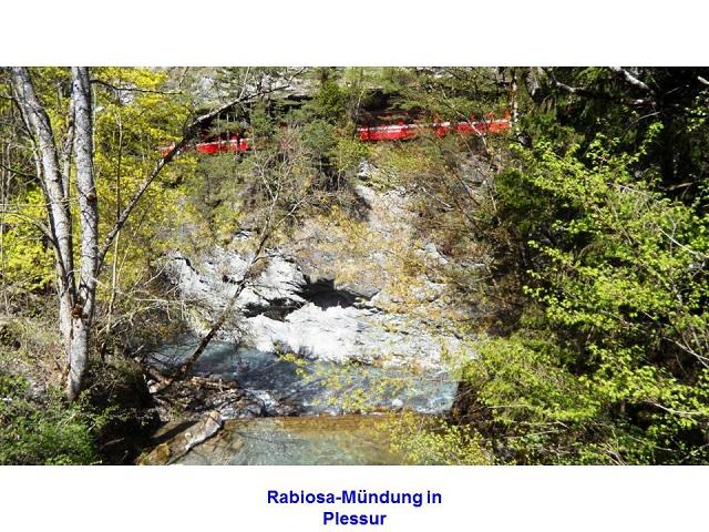 Rabiosa-Mündung in Plessur
