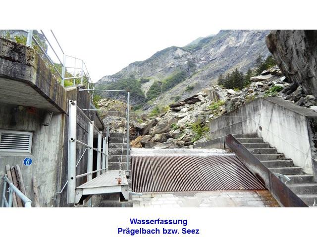 Wasserfassung Prägelbach bzw. Seez